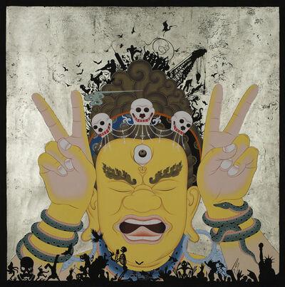 Tsherin Sherpa, 'Peace (Yellow)', 2018
