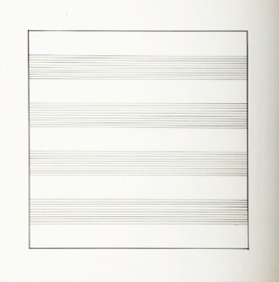 Agnes Martin, 'Untitled #9 (from Stedelijk Museum), 1990', 1990