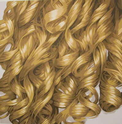 Julia Jacquette, 'Hair (Blonde Curls)', 2008