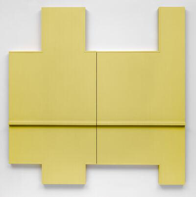 Robert Mangold (b.1937), 'Yellow Wall (Section I + II)', 1964