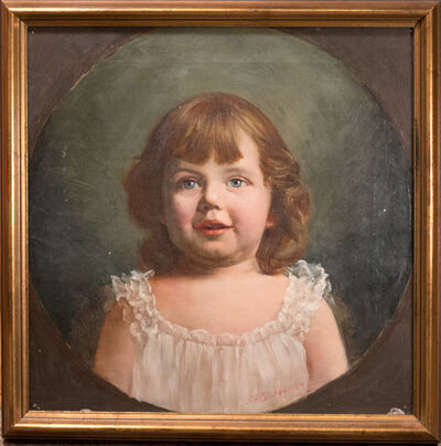John Franklin Stacey, 'Young Girl Portrait', 1894