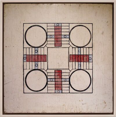 Unknown Artist, 'Minimal Parcheesi Game Board', Late 1940s -early 1950s
