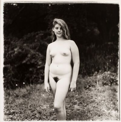 Diane Arbus, 'A young girl at a nudist camp, PA', 1965