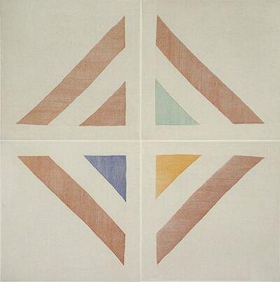 Ruth Laskey, 'TWILL WEAVE GRID (SANGUINE, VIRIDIAN GREEN, INDIAN YELLOW, COBALT BLUE)', 2015