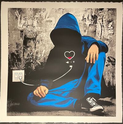 "Hijack, 'Hijack Social Media Junkie Screen Print Mr. Brainwash Son ""Unplugged"" Edition of 50', 2020"