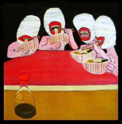 Kawamura Gun, 'Shy Nudists at Ramen bar', 2010