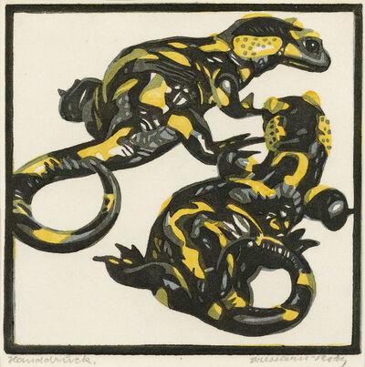 Norbertine Bresslern-Roth, 'Fire salamander', 1922
