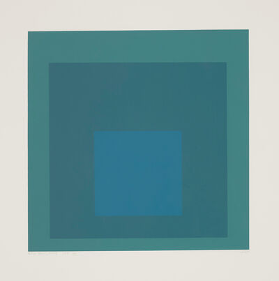 Josef Albers, 'Blue Reminding', 1966