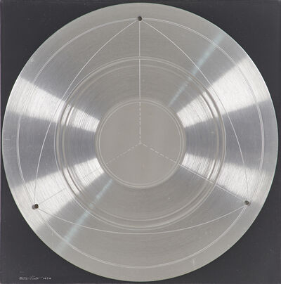 Fletcher Benton, 'Untitled (Circular Plate from Aluminum)', 1970