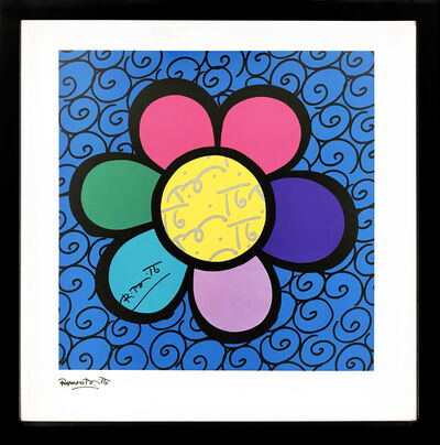 Romero Britto, 'FLOWER POWER (BLUE)', 2000