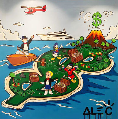 Alec Monopoly, 'Monopoz Team on $ Money Island ', 2019