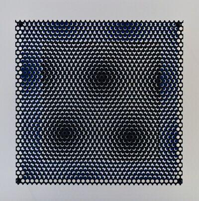 Antonio Asis, 'Vibration carré noir et bleu', 2012