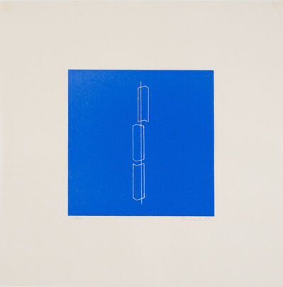 Fred Sandback, 'Untitled (Plate 7 from a set of 8 linocuts)', 1979
