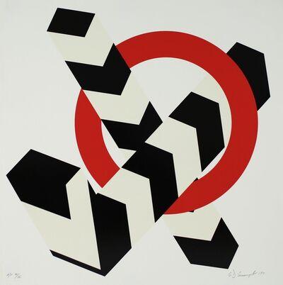 Allan D'Arcangelo, 'Red Circle', 1971