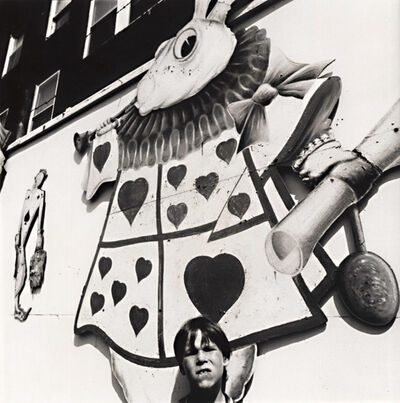 Arthur Tress, 'Boy with Picture of Alice's Rabbit in Rockaway Playland, Queens, NY', 1970/1970