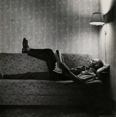 Esther Bubley, 'Rood School (man on couch reading)', 1940-1949
