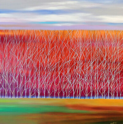 Mary Johnston, 'Trees On Orange to Red', 2018