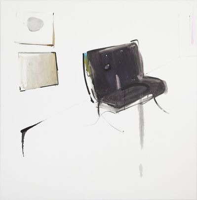 Panos Papadopoulos, 'Smiley painting and sad chair', 2015