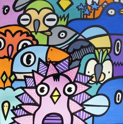 Kev Munday, 'Bird Crowd', 2019