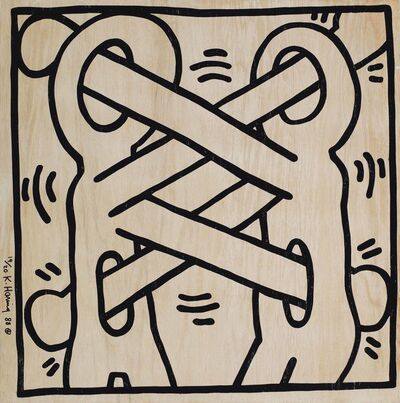Keith Haring, 'Art Attack on AIDS', 1988