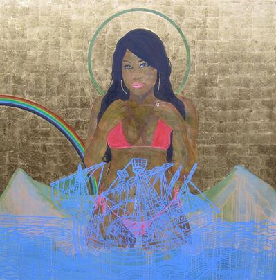 Godfried Donkor, 'Black Madonna with Rainbow', 2010