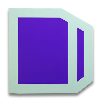 Brent Hallard, 'Plumb Purple (mint) (Abstract painting)', 2014
