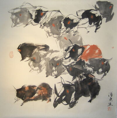 Quan Handong, '#11 Mountain Oxen Series ', 2007
