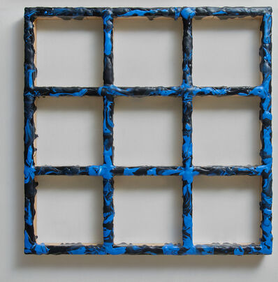 Sigfredo Chacón, 'Grid Black/Blue #3', 2019