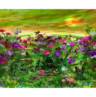 Patrick Jacobs, 'Detail view:  Moonlit Bog with Anemones (diorama viewed through 7.5 inch window)', 2020