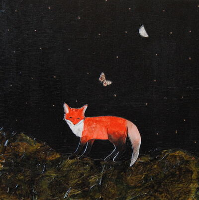 Ashley Anne Clark, 'Lone Fox and Butterfly', 2018