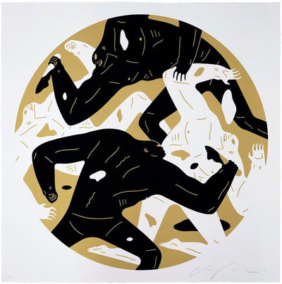 Cleon Peterson, 'Out Of The Darkness (Gold)', 2018