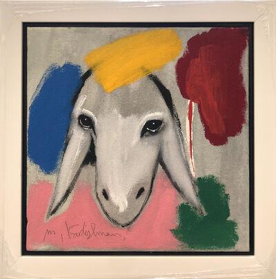 Menashe Kadishman, 'Grey Yellow Sheep', ca. 1990