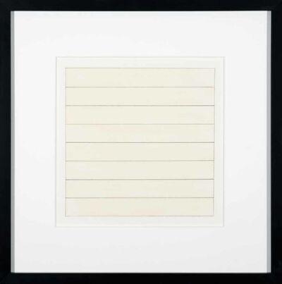 Agnes Martin, 'Untitled X', 1991