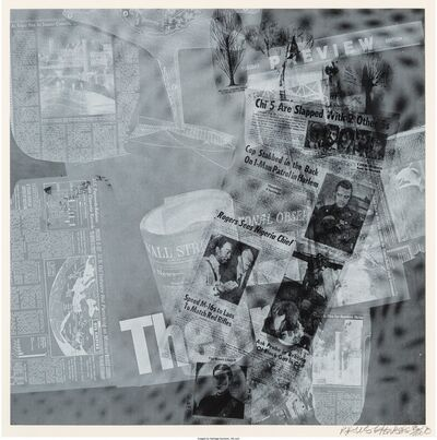 Robert Rauschenberg, 'Surface Series from Currents, The Pro', 1970
