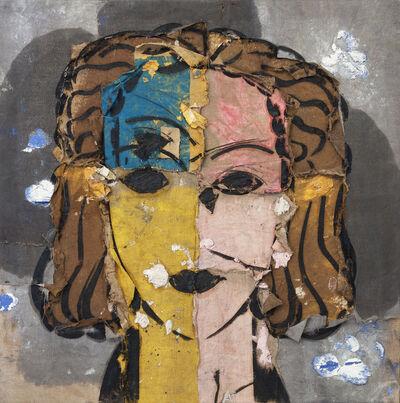 Manolo Valdés, 'Retrato sobre fondo gris', 1999