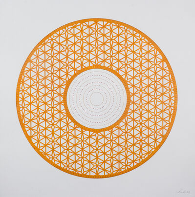 Anila Quayyum Agha, 'Flowers (Orange Circle)', 2017