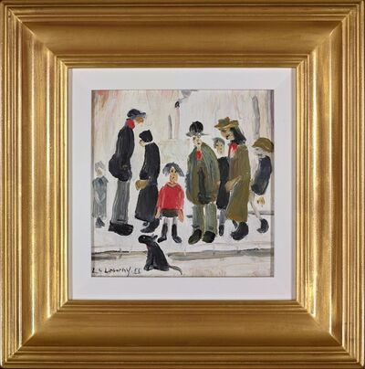 L.S. Lowry, 'Figures in the Street', 1955