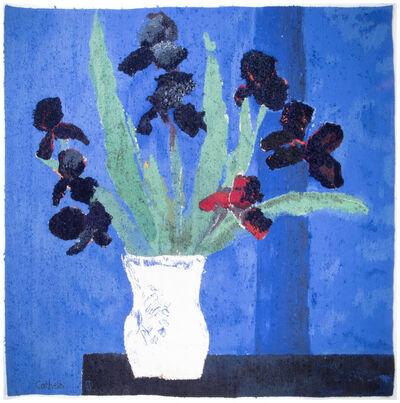 Bernard Cathelin, 'Les Iris sur fond bleu', 1994