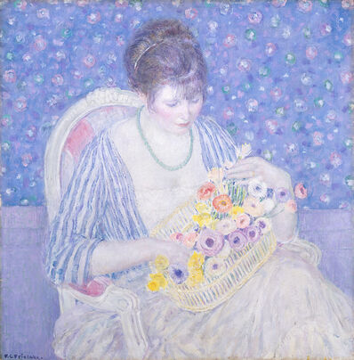 Frederick Carl Frieseke, 'The Basket of Flowers', ca. 1913/1917