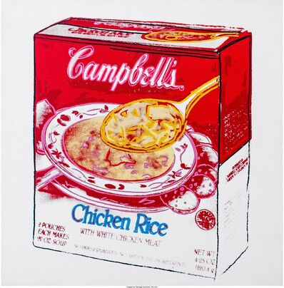 Andy Warhol, 'Campbell's Soup Box (Chicken Rice)', 1986