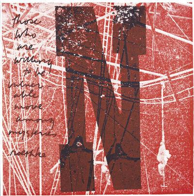 Corita Kent, 'N willing to be vulnerable', 1968