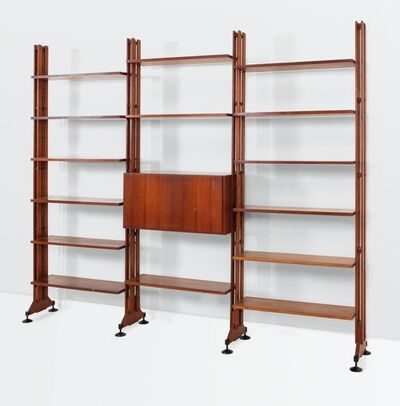 Franco Albini and Franca Helg, 'a LB10 bookcase with a wooden structure and metal details', 1958