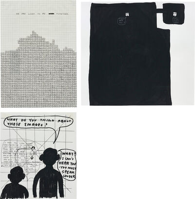 David Shrigley, 'Three works: (i-iii) Untitled', (i) 2000, (ii) 1996, (iii) 1998.