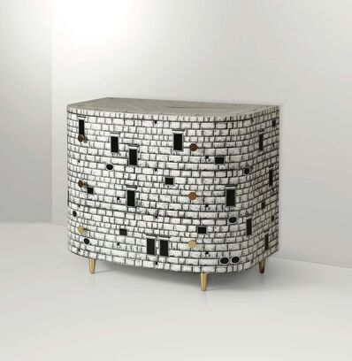 Piero Fornasetti, 'A significant mod. Architettura chest with a lacquered and silk-screened wood structure', 1990 ca.