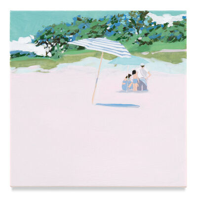 Isca Greenfield-Sanders, 'Striped Umbrella', 2019
