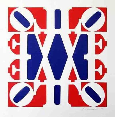 Robert Indiana, 'GREAT Love (Red, White, Blue - 'V' in center)', 2008