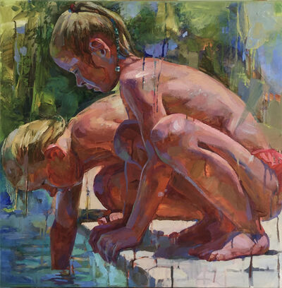 Victoria Udalova, 'Two Norwegian girls by the pool', 2020