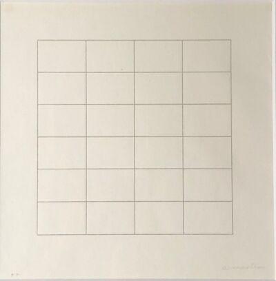 Agnes Martin, 'Untitled ', 1973