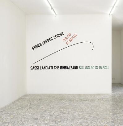 Lawrence Weiner, 'Stones skipped across the bay of naples', 2009
