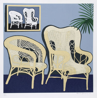 Hunt Slonem, 'Two Chairs', 1979